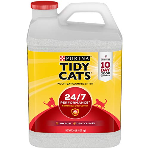 Purina Tidy Cats Clumping Cat Litter, 24/7 Performance Multi Cat Litter – (2) 20 lb. Jugs