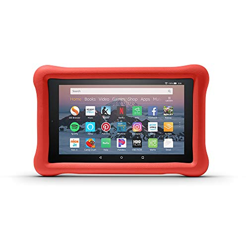 Large Product Image of Amazon Kid-Proof Case for Amazon Fire HD 8 Tablet (Compatible with 7th and 8th Generation Tablets, 2017-2018 Releases), Punch Red