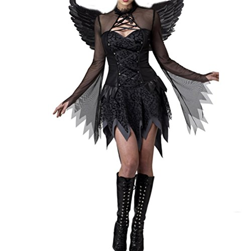[Nanxson(TM) Women's Dark Angel Devil Sexy Adult Costume EXW0019 (black)] (Dark Angel Costumes Women)