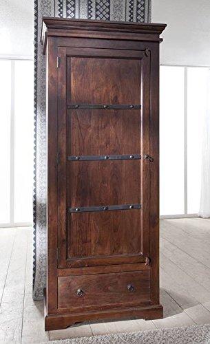 Massivmoebel24de Kolonialmöbel Schrank Akazie Massiv Holz Oxford