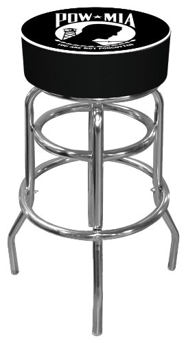 POW Padded Swivel Bar Stool