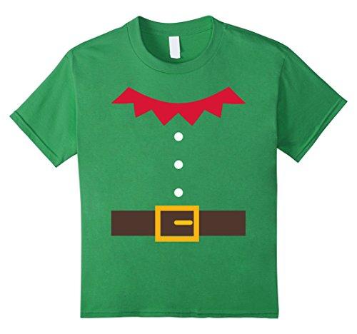 Kids Elf Costume Elf Suit Christmas Holiday Fun T-Shirt 12 Grass