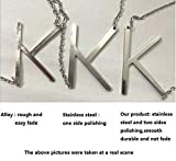 WIGERLON Stainless Steel Initial Letters Necklace