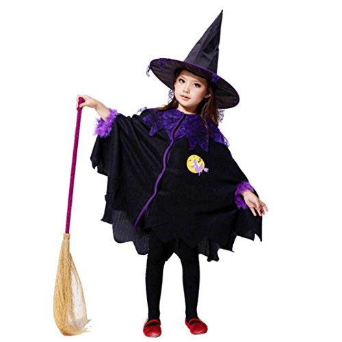Diy Animal Control Costume (Mosunx Girls Fairytale Toddler Witch Costume (Suit for age:2-3Y, Black C))