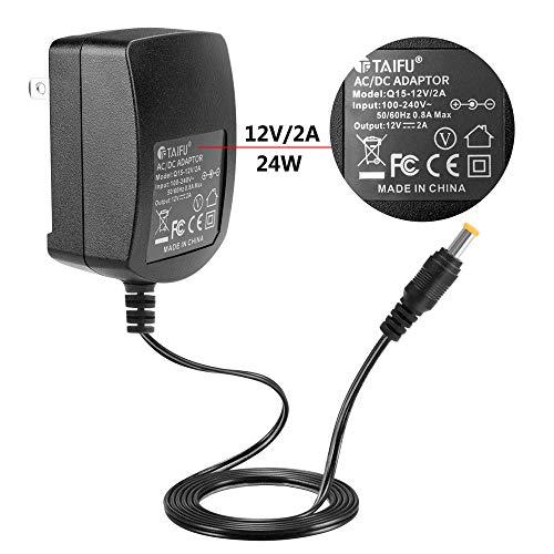 TAIFU AC Adapter for Elmo TT-12 TT-12ID TT12 TT12ID TT-02 9419 TT-02s Projector Interactive Document Camera #1331 P/N : Elmo 5ZA0000104C 12 Volts Power Supply Cord Cable PS Wall Home Battery Charger