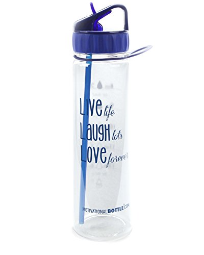 Blue Live Love Laugh Motivational Bottle®