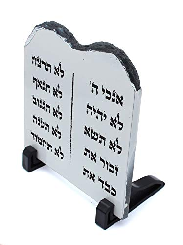 Body-Soul-n-Spirit DECOR Decorative Stone Stand Shape Tablets of The Law Covenant Hebrew 10 Commandments ()