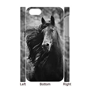 Custom New Case for Iphone 4,4S 3D, Galloping Horse Phone Case - HL-R669492