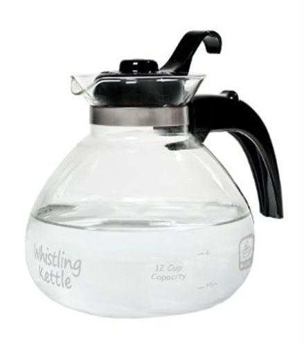 Ship from USA 12 Cup Glass Stovetop Whistling Tea Pot Hot Boil Water Kettle Coffee Ccocoa Soup ITEM NO 8Y-IFW81854213992 by Rosotion