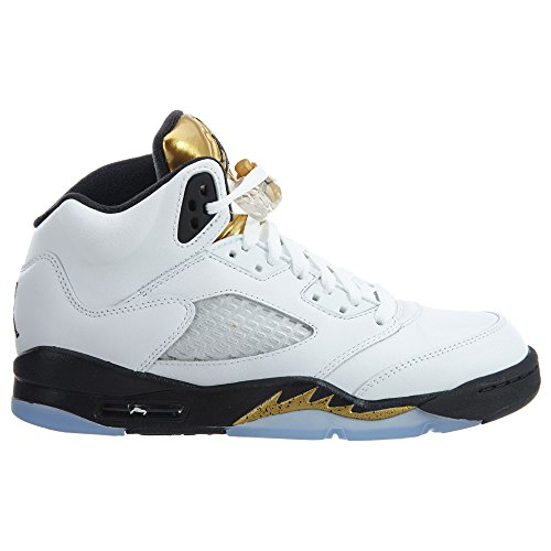 Jordan Retro White MTLC Gold Coin White 39 Black NIKE 5 Color Trainers Basketball bg Air Size Man 5zO7wqt
