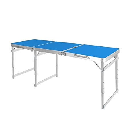 Xyanzi Mesa Plegable portátil, Aluminio para Mesa de Camping ...