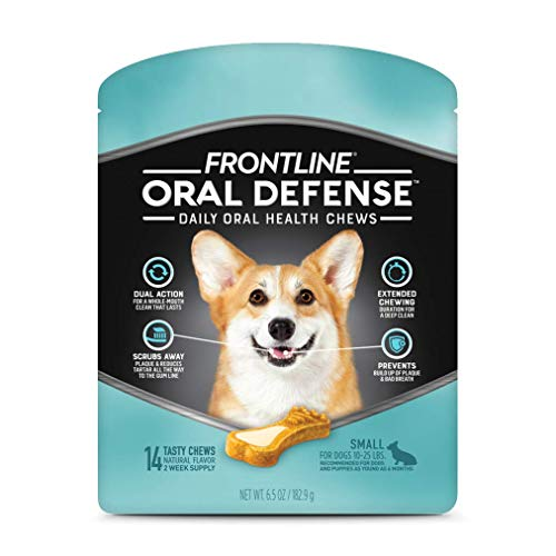 FRONTLINE Oral Defense Daily Dental Chews for Small Dogs (10-25 pounds) 14-Ct