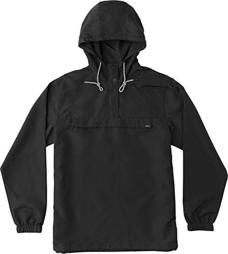 Mens Anorak (RVCA Men's Packaway Anorak Jacket, Black, 2XL)