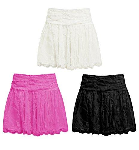 femmes 8 mini lacets Blanc rose blanc SS7 nouvelles jupe Tailles noir 14 Bw7xFqO