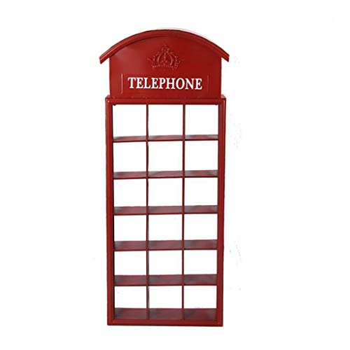 LYXPUZI American Country Wall Hanging/Retro Old Wrought Iron Blackboard Rack/bar Restaurant Phone Booth Wall Decoration