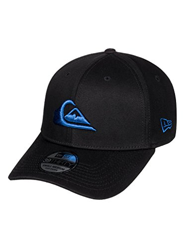 Quiksilver Stretch Hat (Quiksilver Mens Mountain & Wave Black - Cap New Era Cap Blue M/L)