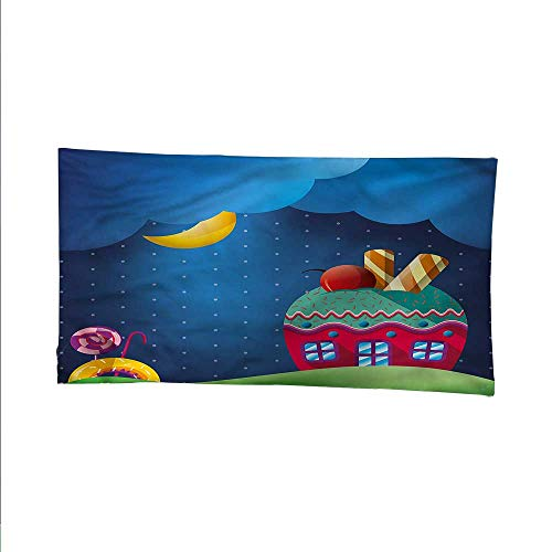 Cartoonocean tapestrylarge tapestryFantasy Style Cupcake House 84W x 70L Inch]()