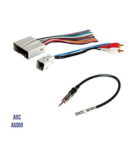 ASC Audio Car Stereo Wire Harness and Antenna Adapter to install an Aftermarket Radio for some Ford Lincoln Mazda Mercury Vehicles- Compatible Vehicles listed (2008 Ford Expedition Stereo)