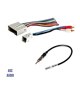 417rWobinTL._SY300_ amazon com asc audio car stereo wire harness and antenna adapter Scosche Stereo Wiring Harness at readyjetset.co