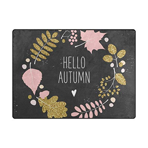 GreaBen Hello Autumn Wreath Kids Area Rug for
