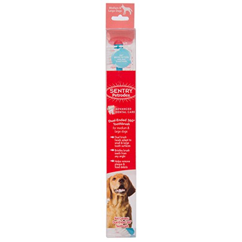 Petrodex Dual Ended 360 Toothbrush for Large Dogs ()