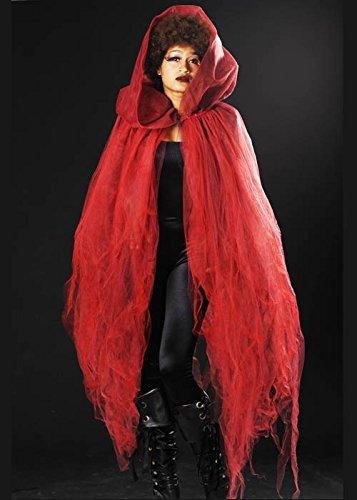 Halloween gótico rojo tul neto pura cabo