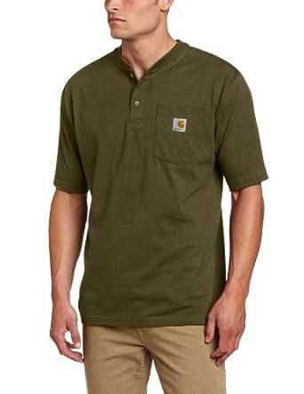 Carhartt Men's Shortsleeve Workwear Henley T-Shirt K84,  Army Green,  Small/Regular