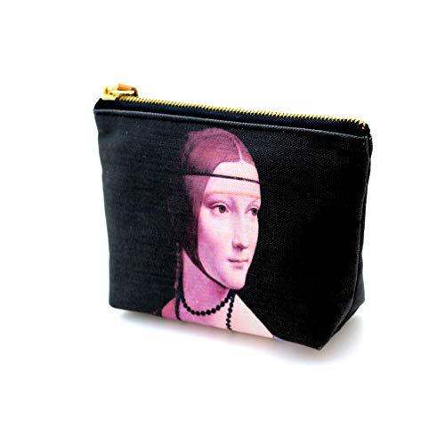 Leonardo da Vinci Carry all Pouch Coin Pouches Canvas Lady with an Ermine