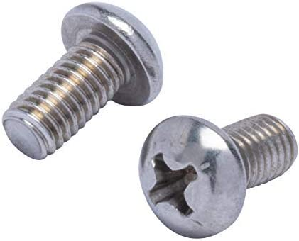 10-24 X 1 1//2 Phillips Round Head Machine Screws 18-8 Stainless Steel Package Qty 100