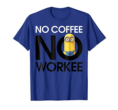 Despicable Me Minions No Coffee No Workee Graphic -