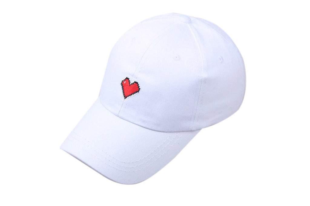 Kinglly Wide Brim Women Men Unisex Summer Outdoors Love Visor Baseball Cap Adjustable Hat White by Kinglly hats∩s&Headwear (Image #2)