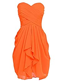 VaniaDress Women Sweetheart Ruffles Short Bridesmaid Dress Prom Gowns V201LF