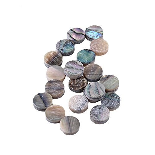 Pearl Dot Inlay - Yibuy 6mm Colorful Abalone Mother of Pearl Shell Fingerboard Dots with Inlay Material For Guitar Pack of 20
