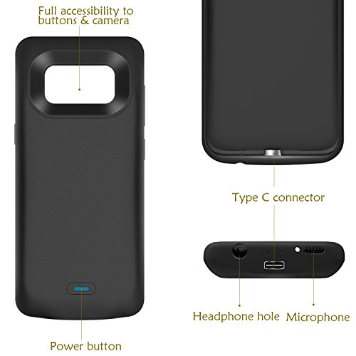 Galaxy S8 Plus Battery case PEYOU 5500mAh No Extra Chin TPU Frame Protective Charging case Extended Backup Charger potential Bank Cover For Samsung Galaxy S8 Plus 62 2017 Release Up to 150 Extra Battery life life time Replacement warranties Battery Charger Cases