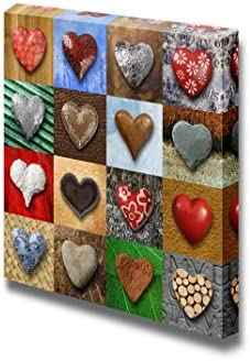 Artistic Photo Collage of Heart Shaped Stone Home Deoration Wall Decor