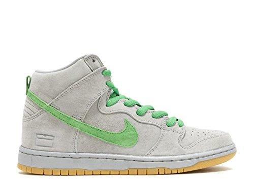 Nike Mens Dunk High Premium SB Metallic Silver/Hyper Verde/Gu Skate Shoe 13 Men US