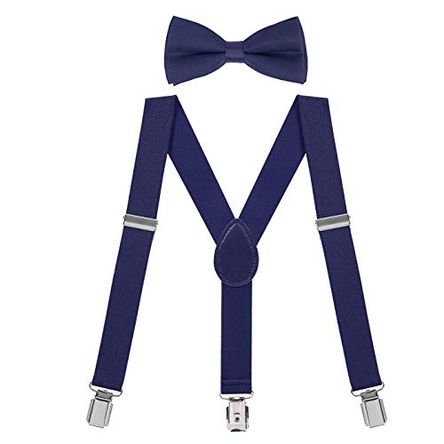 HDE Kids Suspender Bow Tie Set For Toddler Boy Child Suspenders and Bow Ties
