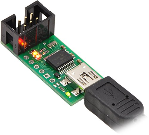 Pololu 1300 USB AVR Programmer, 6-Pin ISP Programming Cable, USB-A to Mini-B Cable