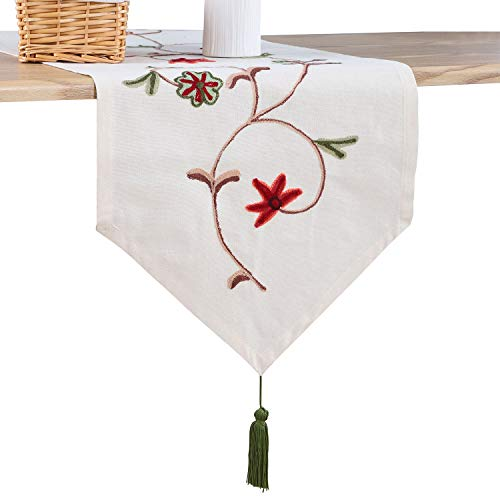 Ethomes floral embroidered linen cotton burlap beige for sale  Delivered anywhere in USA