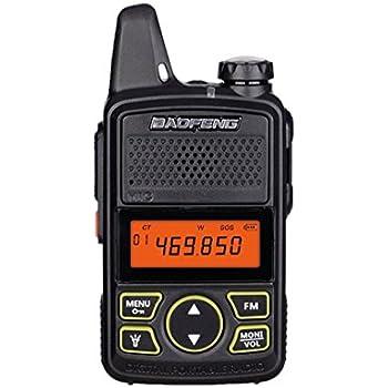4x Mini Walkie Talkie Baofeng BF-T1 Two Way Radio UHF 400-470Mhz w// PTT Earpiece