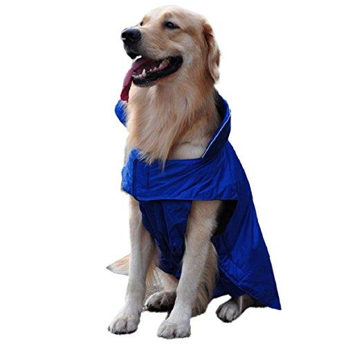 Protection Domestique Manteau Animal De Coloré Bleu Veste Chien Étanche Amison Imperméable tqXwRg