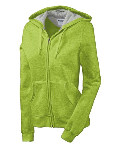 Champion Eco Fleece Full-Zip Women's Hoodie Jacket, S-Mystical Green Heather