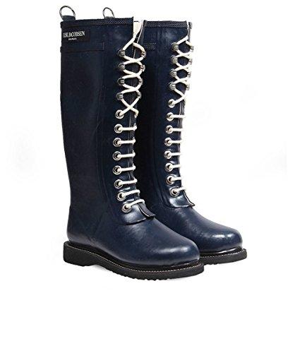 ILSE JACOBSEN Womens Rub1 Laced Rain Boots Indigo Indigo RI5OZLWOH