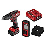 SKIL 2-Tool Combo Kit: PWRCore 12 Brushless 12V 1/2 Inch Cordless Drill Driver and 100 Foot Laser Distance Measurer and Level, Includes 2.0Ah Lithium Battery and PWRJump Charger - CB737501