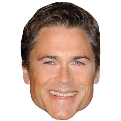 Rob Lowe Celebrity Mask, Card Face and Fancy Dress Mask