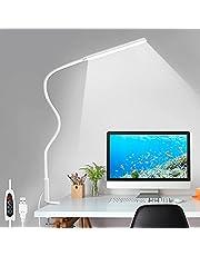 LED Desk Lamp, Swing Arm Table Lamp with Clamp, Flexible Gooseneck Task Lamp, Eye-Caring Architect Desk Light, 3 Color Modes 10 Brightness Levels, Memory Function Desk Lamps for Home Office, 12W