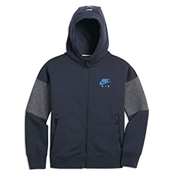 Nike Niños B NK Air Sudadera FZ Capucha, Todo el año, Infantil, Color Obsidian Blau/Karbon Heidekraut Grau/Helles Photoblau, tamaño Large: Amazon.es: ...