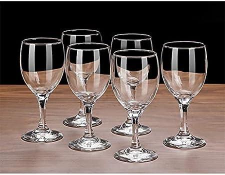 JYDQM Copa de Vino, Copas de Vino Baratas, Juego de 6 Copas de Vino Tinto, Vino Adecuado para Todas Las Ocasiones,9,295 Ml-1