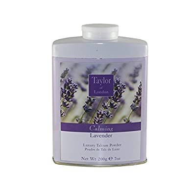 Taylor of London Luxury Talcum Powder for Women, Lavender, 7.0 Ounce