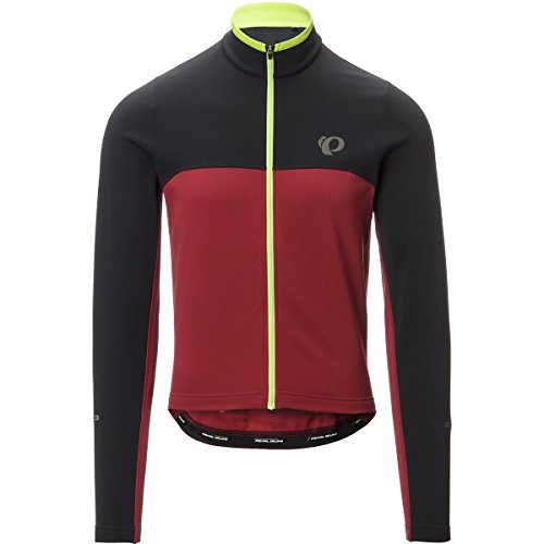 Pearl Izumi – Ride Select Thermal Jersey, Black/Tibetan Red, X-Large